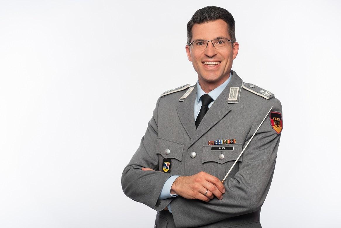 Oberstleutnant Matthias Prock leitete das Heeresmusikkorps Ulm von 2012 bis 2019
